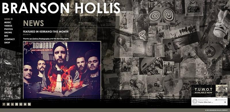 Catpure d'écran du site Branson Hollis