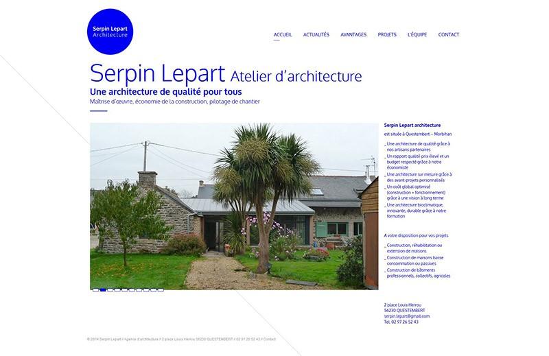 Catpure d'écran du site Serpin Lepart