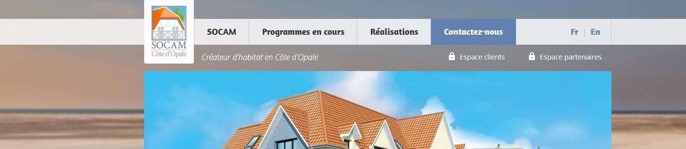 Catpure d'écran du site SOCAM Immobilier