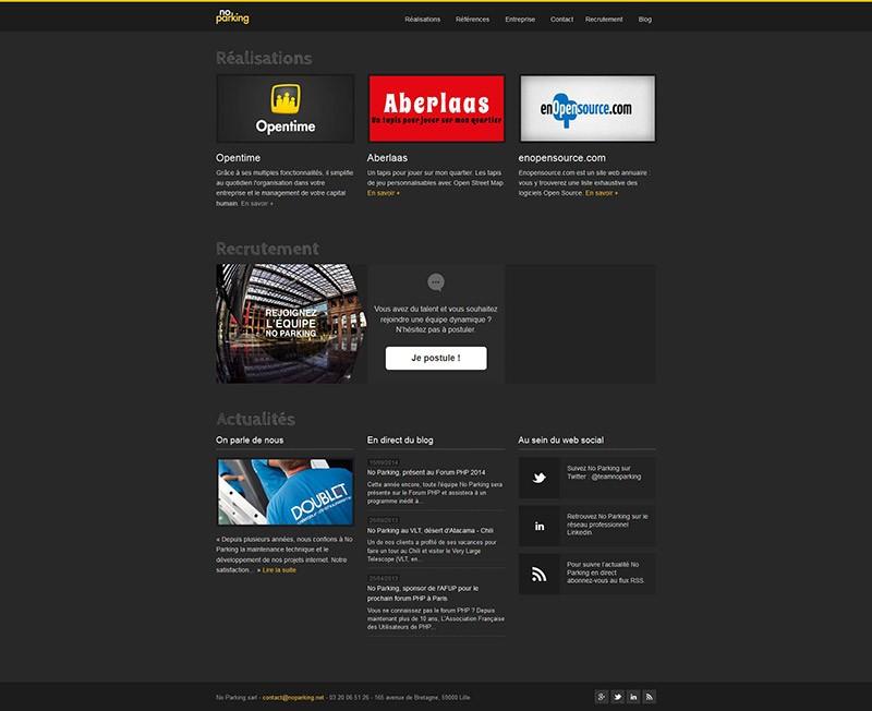 Catpure d'écran du site NoParking